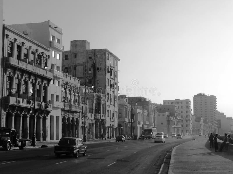 古巴malecon 免版税库存照片