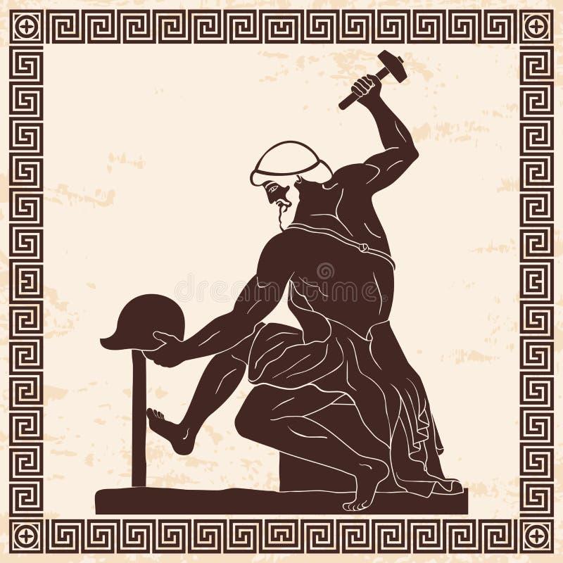 download 古希腊人铁匠 向量例证.图片