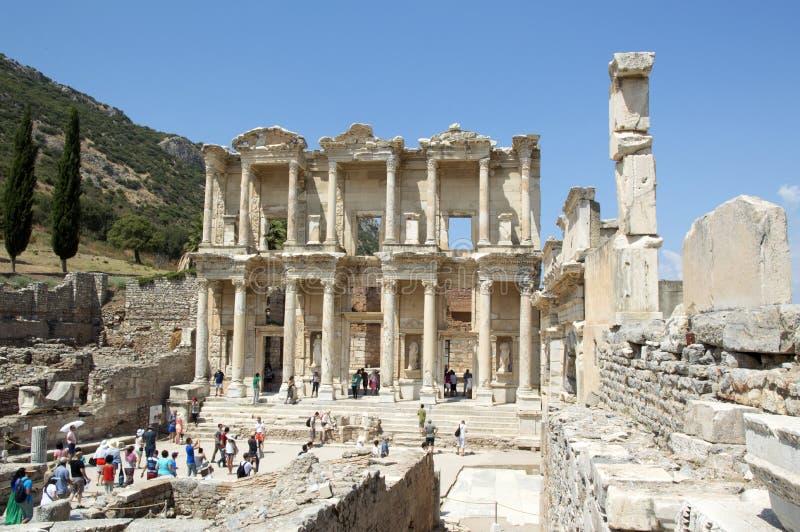 古希腊图书馆以弗所 免版税库存图片
