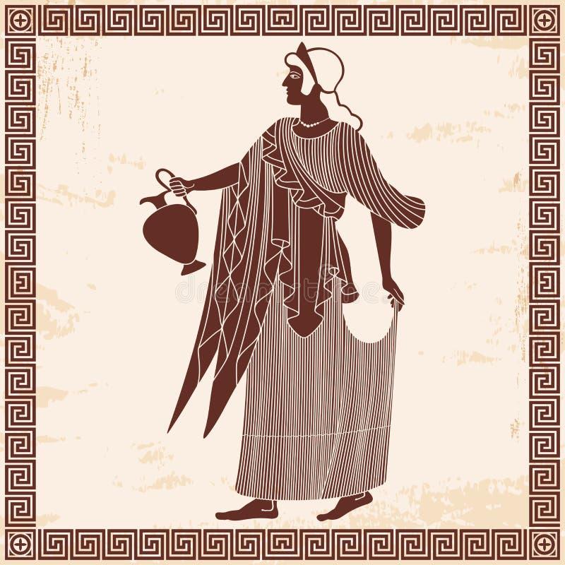古希腊女神美之女神 库存例证