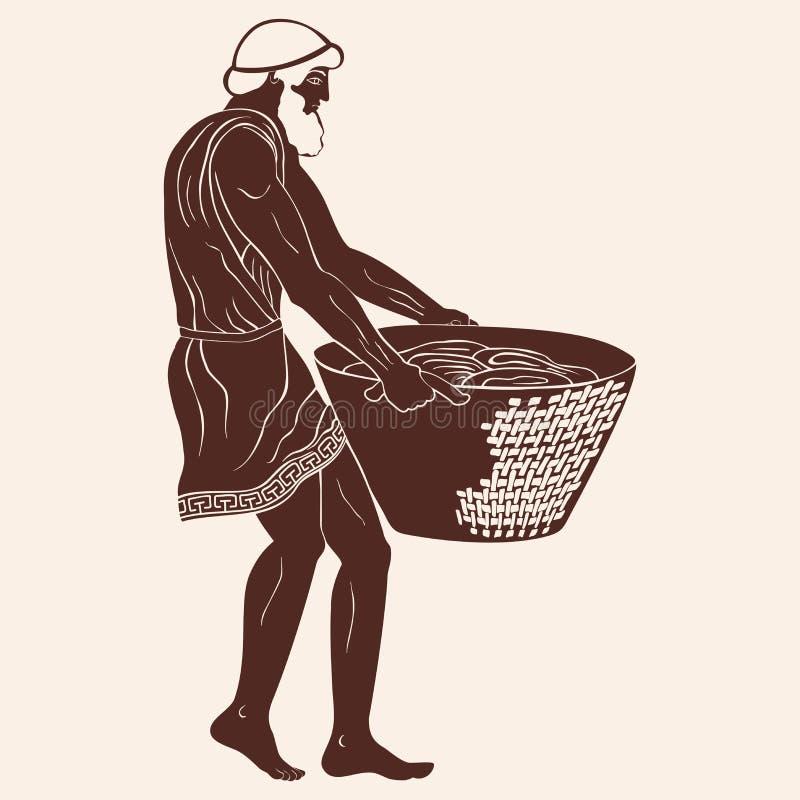 古希腊奴隶 向量例证