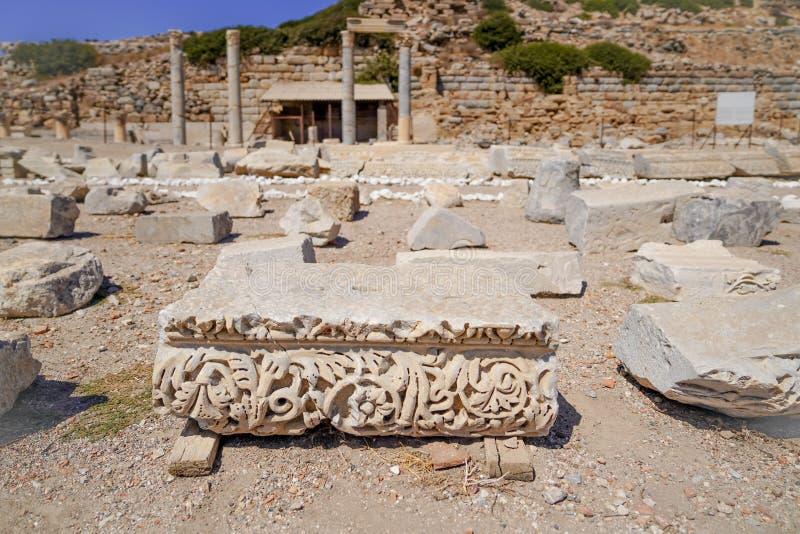 古希腊市Caria和一部分的多利安人的Hexapolis 免版税库存图片