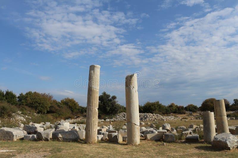 古希腊废墟 图库摄影