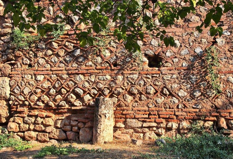 古希腊石墙,特尔斐,希腊 免版税库存照片