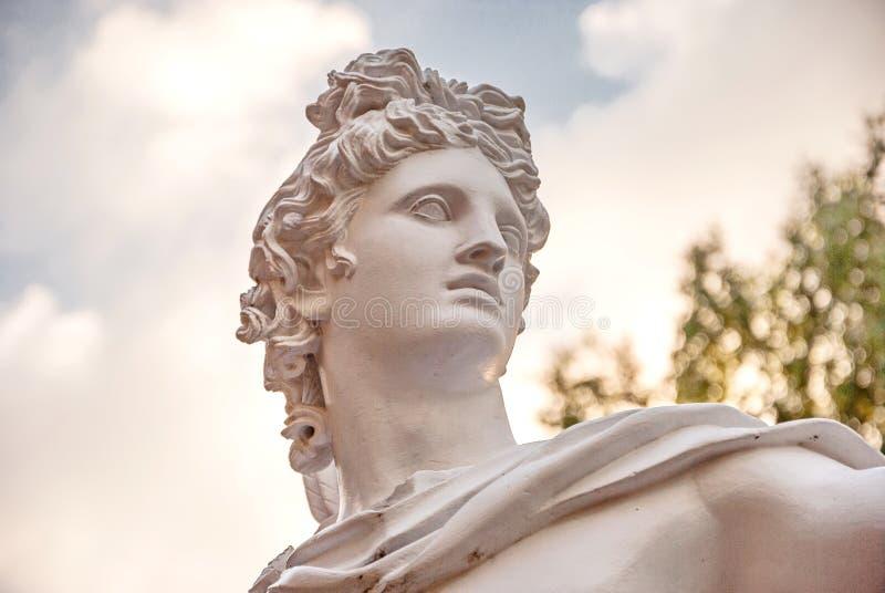古希腊神阿波罗 库存照片