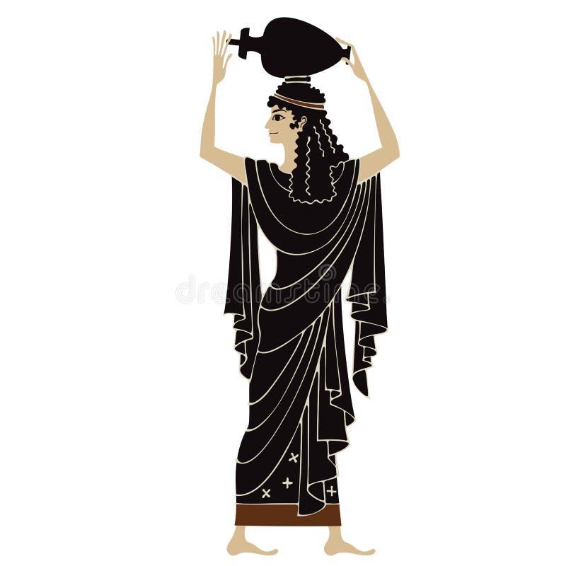 古希腊绘画 瓦器艺术 库存例证