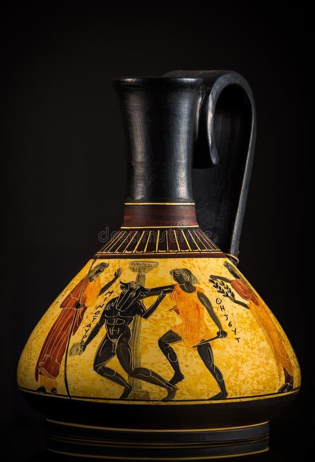 古希腊花瓶 免版税库存照片
