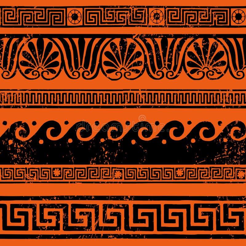 古希腊边界装饰,蜿蜒 向量例证