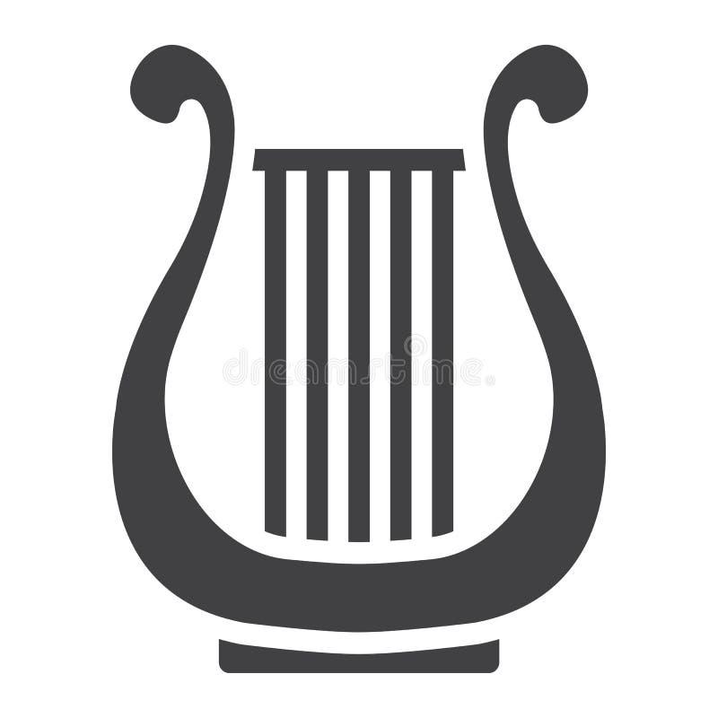 古希腊里拉琴纵的沟纹象,音乐d, eps 10图片