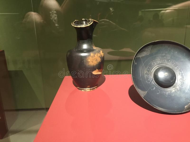 古希腊雕刻胸象的神艺术 库存照片