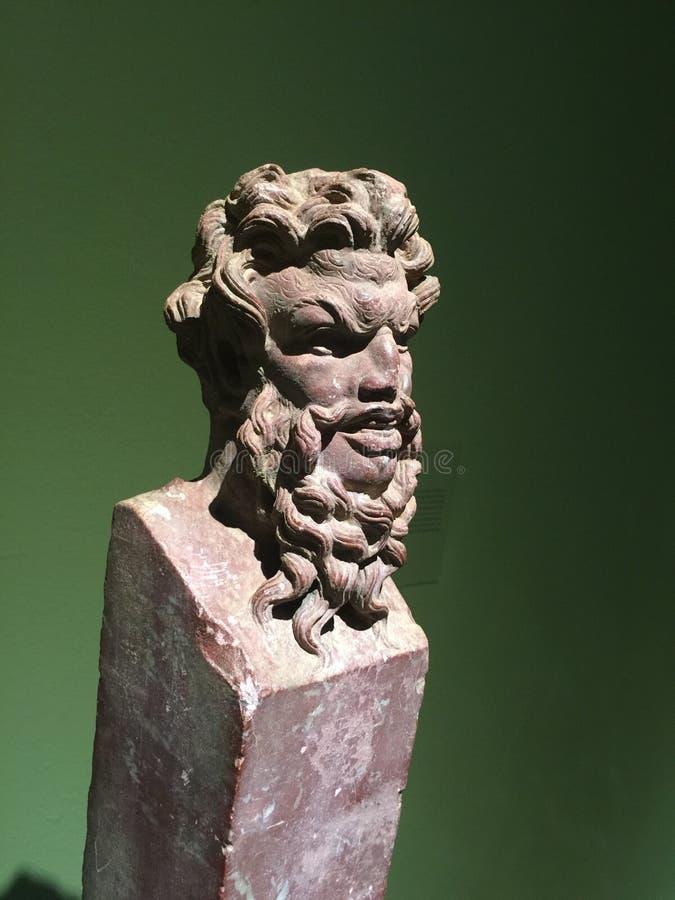 古希腊雕刻胸象的神艺术 库存图片