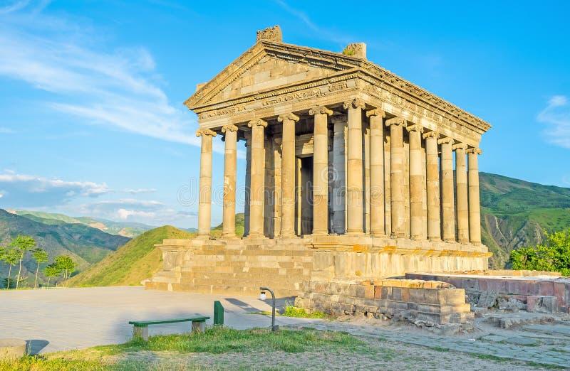 古希腊建筑学在亚美尼亚 库存照片