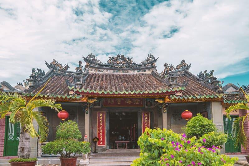 古庙在越南会安市 库存照片