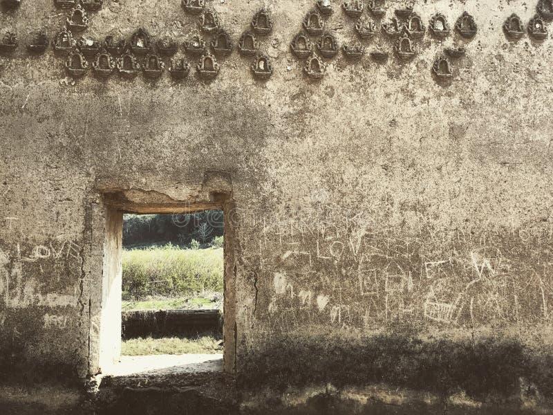 古庙墙壁  库存图片