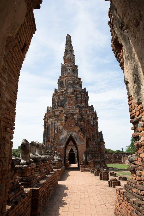 古庙的内在走廊 库存照片