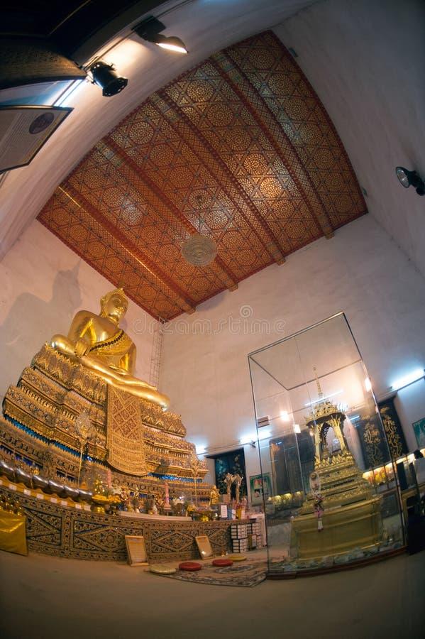古庙的,曼谷,泰国菩萨 免版税图库摄影