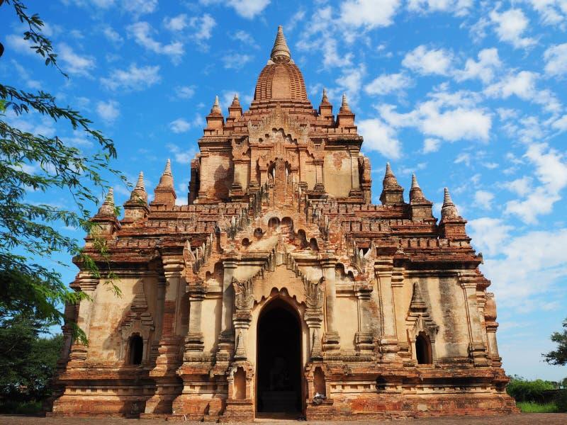 古庙站点在蒲甘,缅甸 免版税库存图片