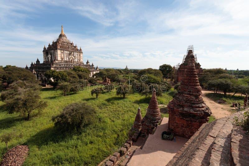 古庙细节在蒲甘,缅甸(缅甸 免版税库存照片
