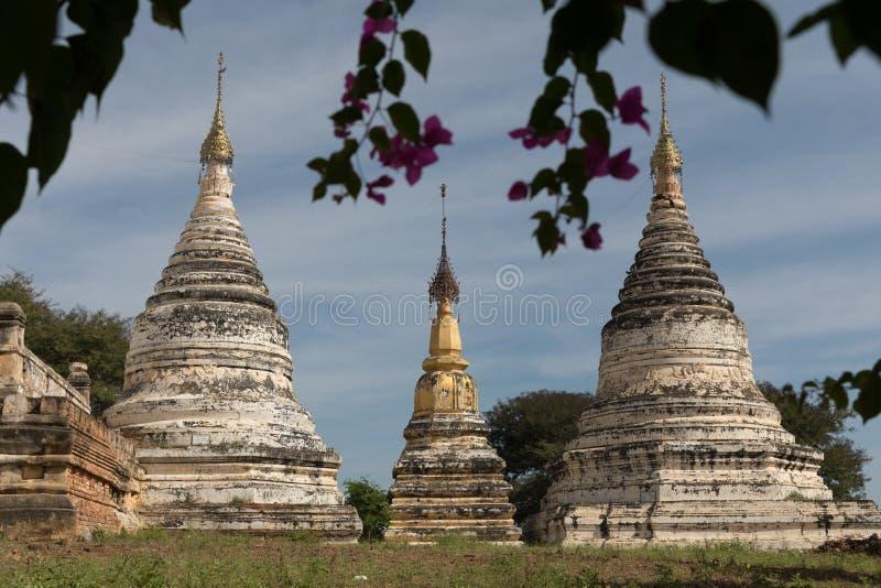 古庙细节在蒲甘,缅甸(缅甸 图库摄影