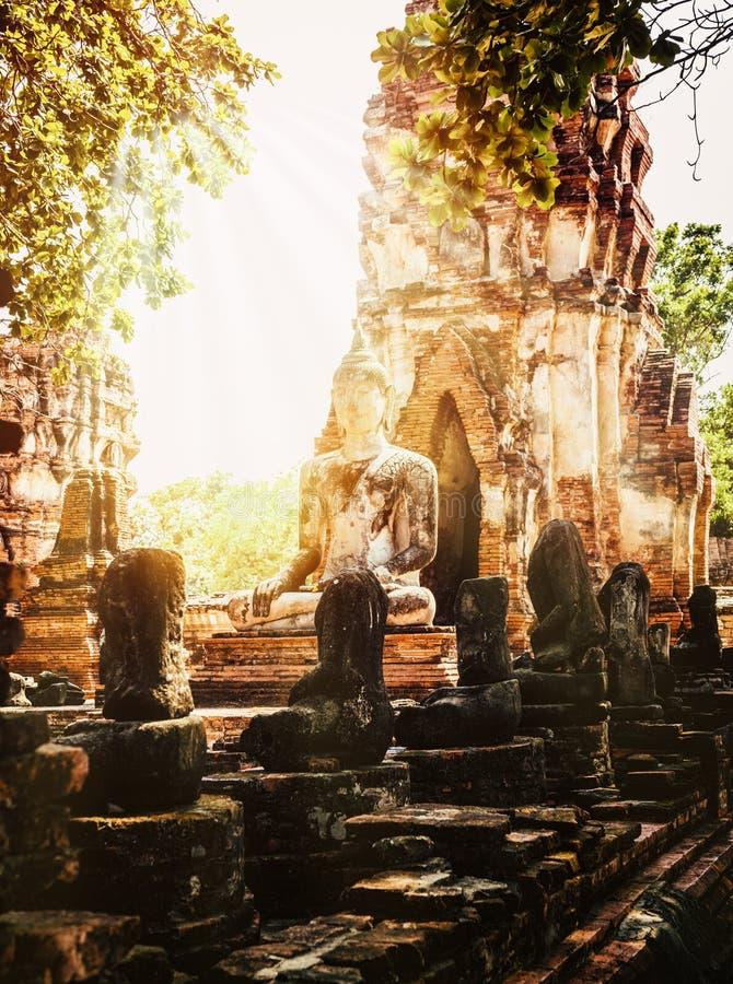 古庙Wat大城府Mahatat  库存照片