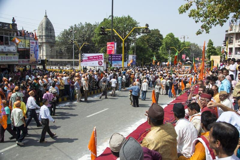 古杰雷特首席部长和BJP头等部长级候选人Narendra Modi 免版税库存图片