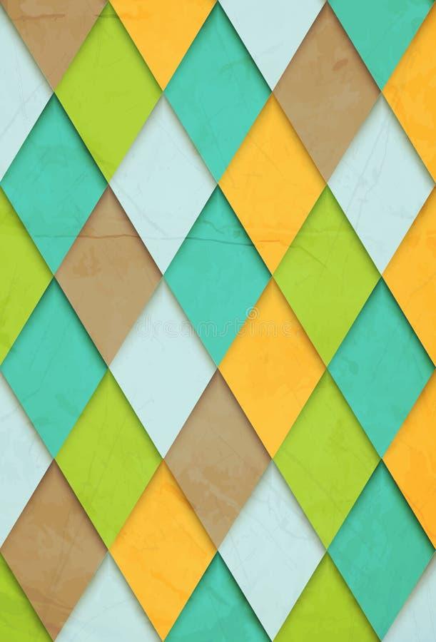 古板的传染媒介背景rhombs 库存例证