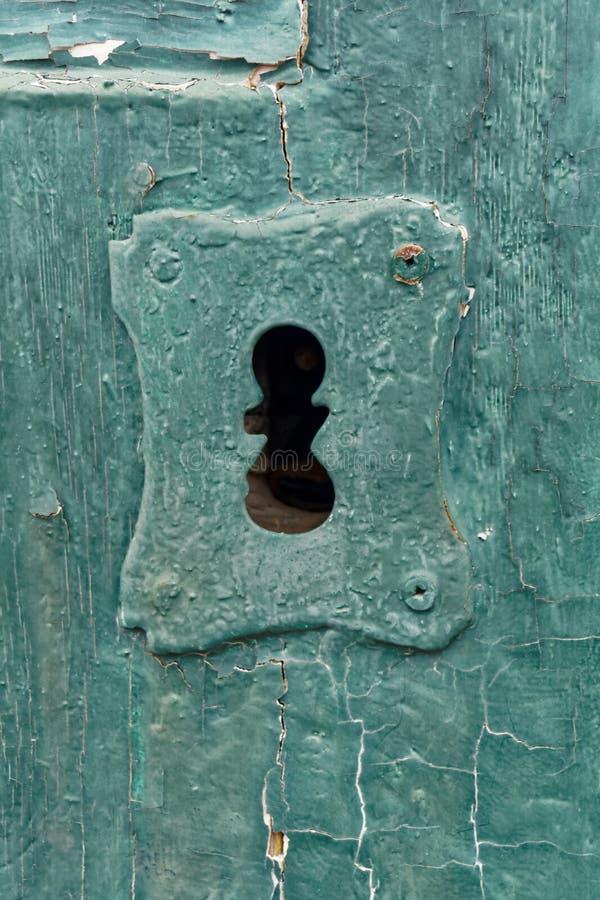 古板的关键孔 库存照片