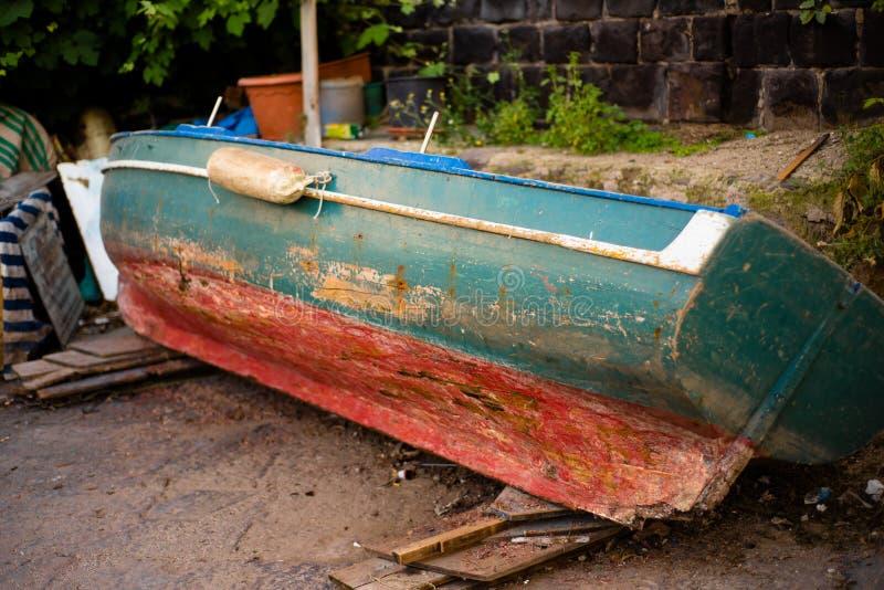 古板的小船& x28; 没有people& x29; 免版税库存照片