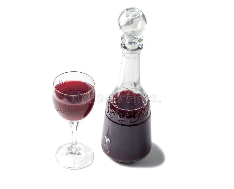 古板的瓶,杯英王乔治一世至三世时期酒 库存照片