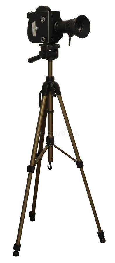 古板的电影摄影机 免版税图库摄影