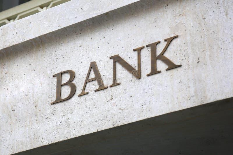 古板的银行标志 库存照片