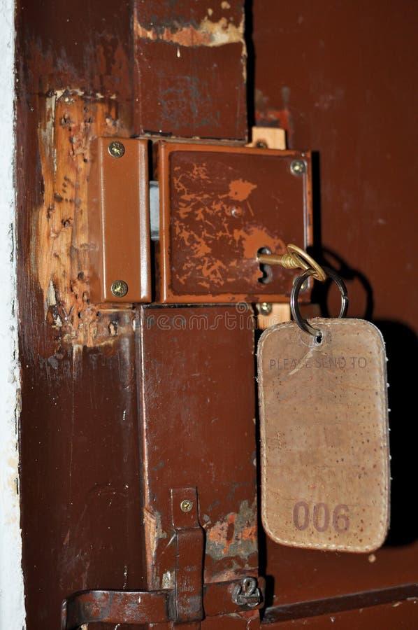 古板的锁定和关键字 库存照片