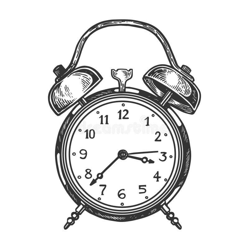 古板的闹钟传染媒介例证 皇族释放例证