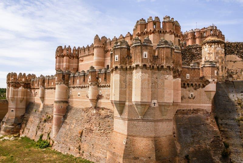 古柯城堡(卡斯蒂略de Coca)是被修建的设防  库存照片