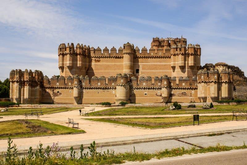 古柯城堡(卡斯蒂略de Coca)是被修建的设防  库存图片