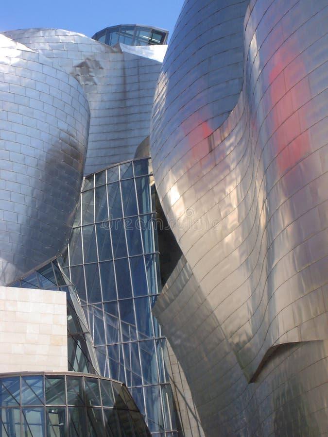 古根汉Museoa,毕尔巴鄂,巴斯克地区 免版税库存照片