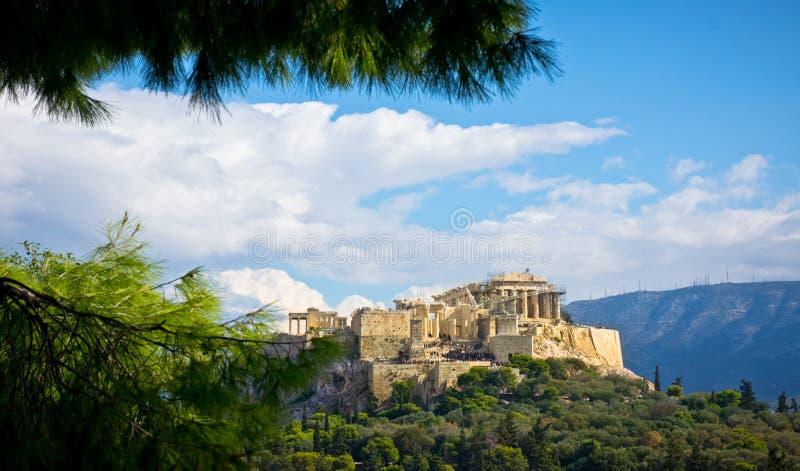 古老上城,雅典,希腊 免版税库存照片