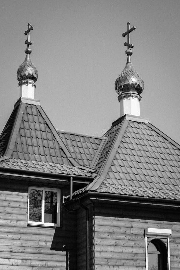 古老东正教的圆顶的几何在不冻港 免版税库存图片