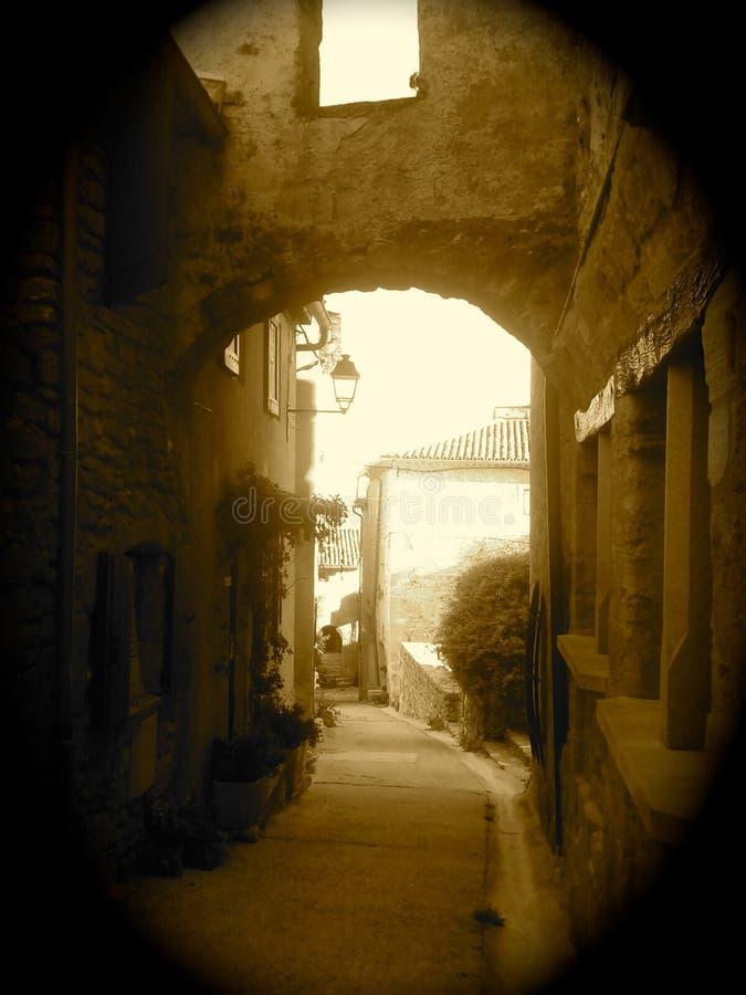 古老中世纪拱道 图库摄影