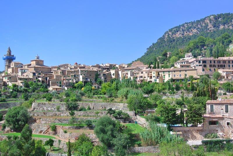 古老中世纪西班牙城市的看法 库存照片
