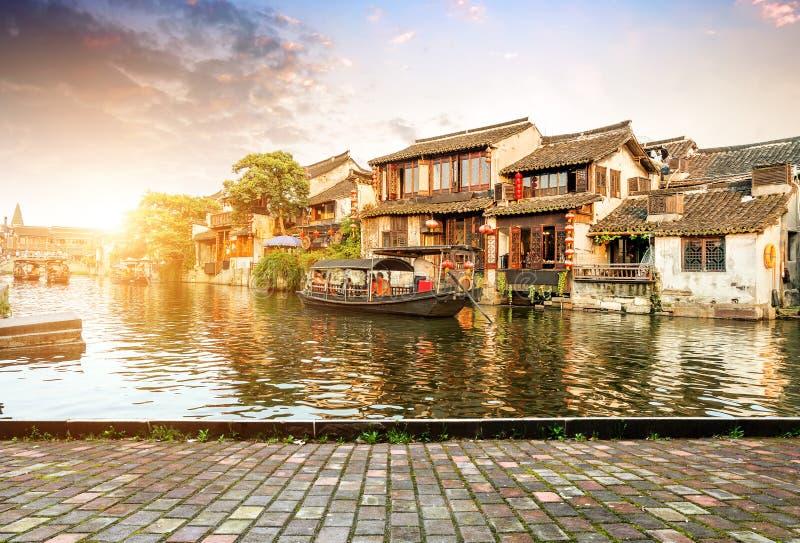 古老中国城镇xitang 免版税图库摄影