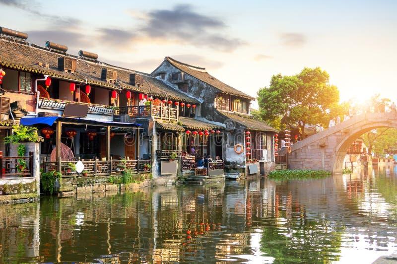 古老中国城镇xitang 库存图片