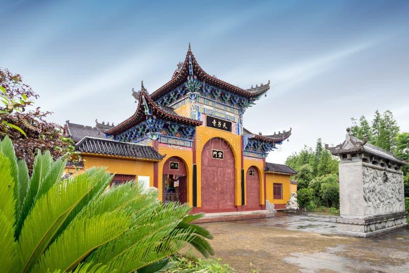 古老中国寺庙 免版税库存照片