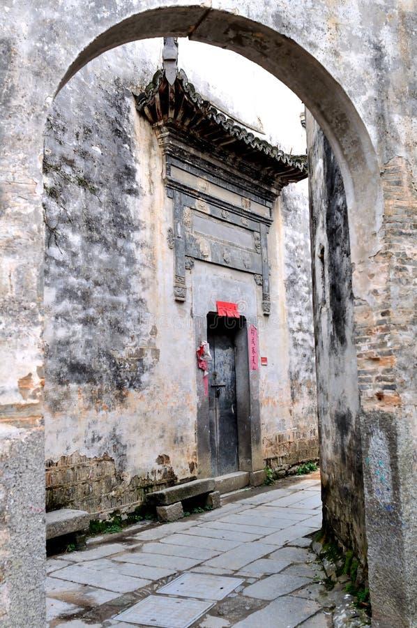 古老中国村庄 库存照片