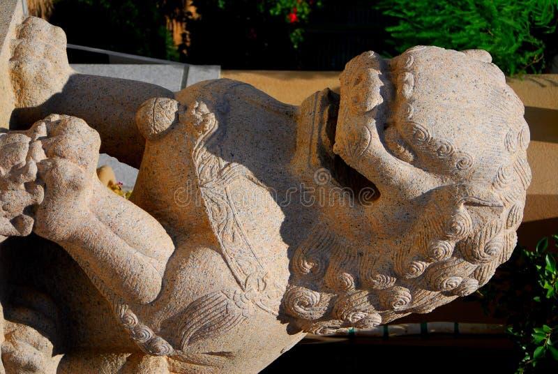 古老中国狮子 免版税库存图片