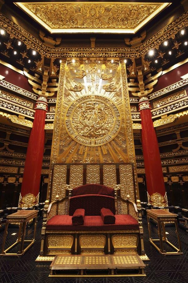 古老中国皇帝会议房子  图库摄影