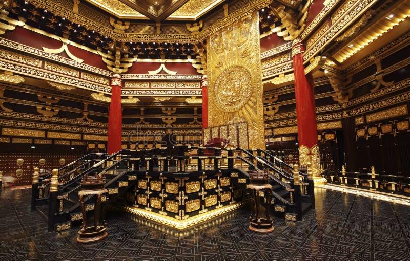 古老中国皇帝会议房子  免版税库存照片