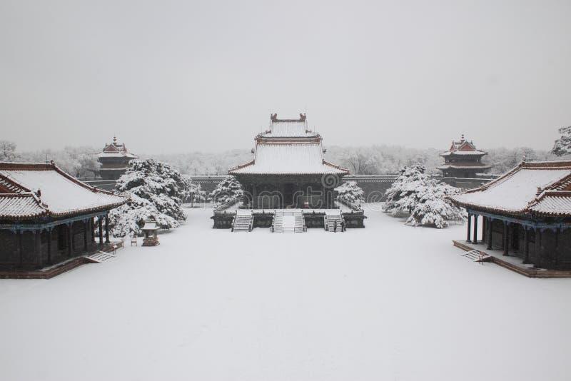 古老中国建筑学 库存图片