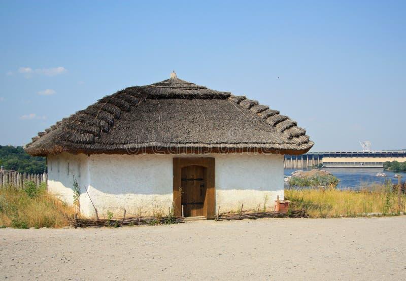 古老乌克兰房子 免版税库存照片