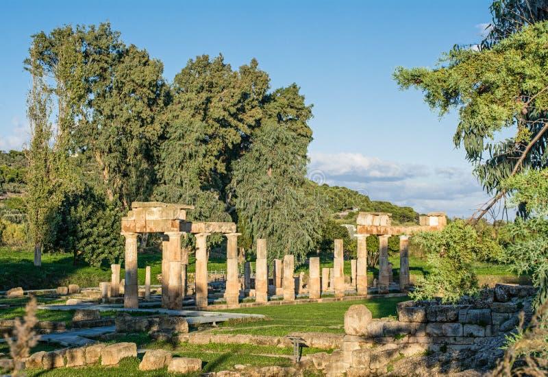 古老亚底米神庙Vravronia 库存照片